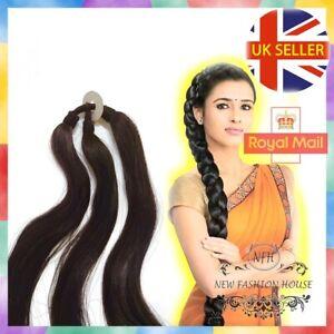Indian Braid Hair Extension Choti Parandi Guth Three Strand Wedding Hairstyle