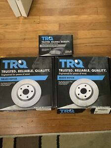 TRQ Front Set Ceramic Brake Pad & Rotor Kit for Ford Lincoln Mercury Open Box