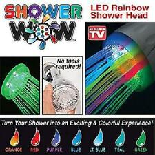 LED Rainbow Shower Head Colourful Vibrant Colour Shower Wow-Fun For Whole Family
