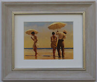 Mad Dogs by Jack Vettriano Framed & Mounted Art Print Grey