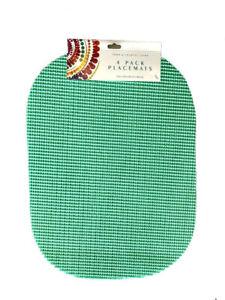 Waffle Weave PVC Vinyl Placemats Set of 4 Indoor Outdoor U Choose 10 Colors