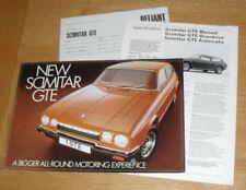 Paper Reliant 1975 Car Sales Brochures