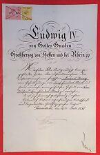 Bestallungsurkunde LUDWIG IV. VON HESSEN, Großherzog Hessen-Darmstadt, 1888