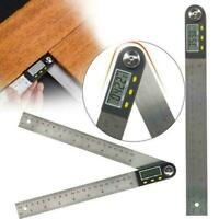 200mm LCD Digital Length AND Angle Gauge Steel Finder Measure-tractor Ruler M7I9