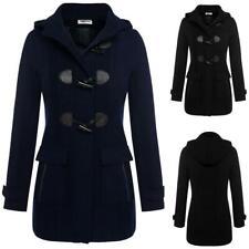 ZEAGOO Frauen Mode lässige Kapuzen Kragen langarm Trenchcoat Jacke Mantel TI 01