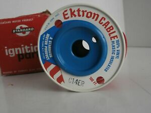 Vintage Standard Plus Ektron Cable C14ER Primary Wire Red 14 Gauge Insulated