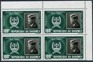 Dahomey C30 block/4,MNH.Michel 265. President John F.Kennedy.1965