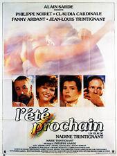 Affiche 120x160cm L'ÉTÉ PROCHAIN 1985 Nadine Trintignant - Philippe Noiret EC