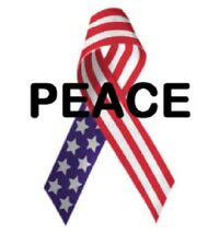 Address Labels - Patriotic - Peace Ribbon 03