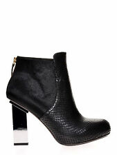Zip Stiletto Booties 100% Leather Boots for Women