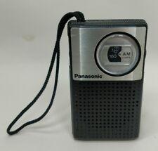 Vintage Panasonic R-1018 AM Pocket Radio Black and Silver Works
