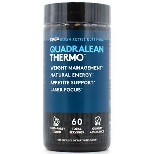 RSP Nutrition QuadraLean Thermogenic Weight Loss Support & Clean Energy 180 Caps