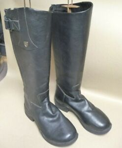 LADIES RIDING  BOOTS.  BLACK LEATHER  Size 4  - 5