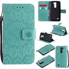 Sunflower Stand Wallet Leather Flip Case Cover For LG K3 10 2017 K5 K7 K8 K10 5X
