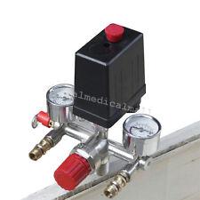125 PSI Air Compressor Pressure Switch Control Valve Manifold Regulator Gauges