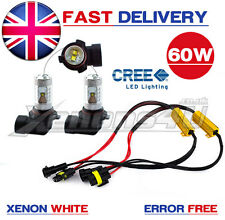 2x H8 Car Front Headlight Foglight 60W CREE LED Bulbs HID Xenon White Upgrade