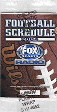2004 FOX SPORTS RADIO FOOTBALL POCKET SCHEDULE IN CELLOPHANE PACKAGE