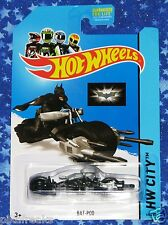 Bat Pod Batman Hot Wheels Die Cast Car Toy The Dark Knight Brand New MISP