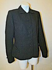 $139 Ann Taylor LOFT Black Acetate Polyester Jacket Blazer sz 10 Bow Accent NWT