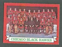 1973-74 OPC O-Pee-Chee Hockey Chicago Black Hawks #96 Team Card NMT+ *Dark Back*