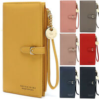 Women Lady Leather Long Wallet Money Card Purse Holder Organiser Zipper Handbag