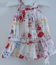 Clayeux***Robe 6 mois /67 cm Motif Liberty Rouge Blanc bleu