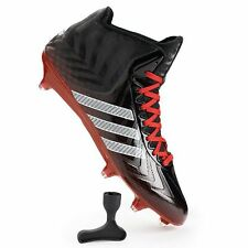 New Adidas Men's Shoes CrazyQuick Mid Football Cleats Black/Red G99468 Sz 12