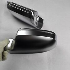 for Audi A4 S4 12-16 car mirror cover housing alu matt Silver With side assist
