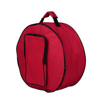 Padded Snare Drum Bag Soft Case Cover Protector Outside for Drum Parts Red H6J3