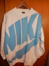 Vtg 1986 Nike Blue Tag HUGE LOGO Crew Sweatshirt Carolina Blue Medium Rare og