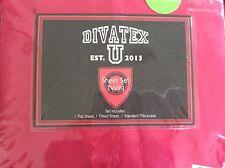 Divatex Kids Dark Pink Microfiber Twin Sheet Set