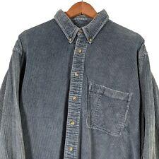 TIMBERLAND Weathergear Blue Corduroy Long Sleeve Button Up Shirt - Mens XL