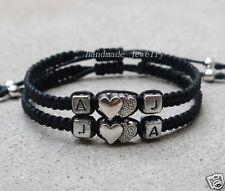 Handmade initials couple bracelet Lovers bracelet Christmas gift Friendship gift