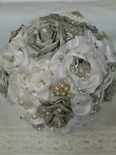 HANDMADE WEDDING MUTI-COLOR SILK FLOWER BRIDAL BOUQUET