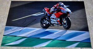 """Andrea Dovizioso Signed 12"""" x 8"""" Colour Photo MotoGP Ducati #2"""