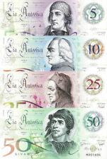 Lia Antootica Banknoteset 5-50 Sivar 2017 Polymer Unc Specimen, Private, Notes