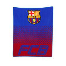 FC Barcelona Fade Fleece Blanket Childrens Blue Red 125cm X 150cm Official