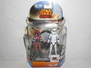 "Star Wars Rebels MS08 Sabine Wren & Stormtrooper 3.75"" Disney Hasbro 2014 A8930"