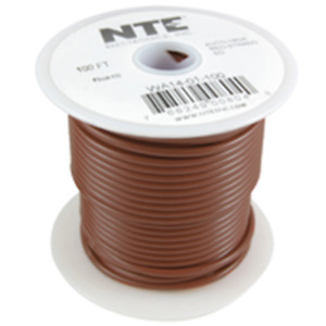 NTE Electronics WA14-01-100 HOOK UP WIRE AUTO 14 GAUGE BROWN STRANDED 100'