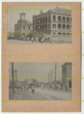 CHINESE PHOTOS TRAM ETC ? SHANGHAI TIENTSIN PEKING ? CHINA ALBUM PAGE C.1900
