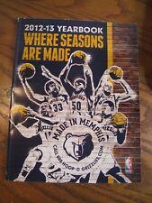 NBA Memphis Grizzlies 2012-2013 Yearbook