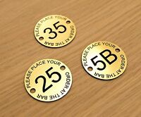Set of 10 Place Your Order at the Bar numbered discs pub bar restaurant club bar