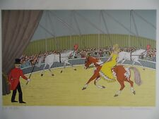 Vincent Haddelsey Signed LE Print Horses at the Circus