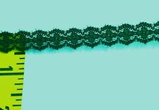"""Double Scalloped Lace Trim Edging 1/2"""" Dark Green 10 yds #V10"""