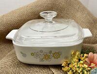 Vintage Corning Ware Floral Bouquet 3rd Edition A-1-B 1 Quart Casserole W/Lid