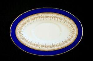 Beautiful Royal Worcester Regency Blue Gravy Underplate