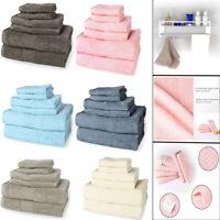 Ultra Soft Absorbent Bathroom Towel Hotel Towels Set 100% Plush Cotton Solid
