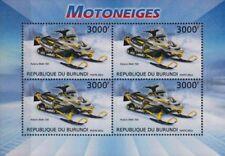 POLARIS RMK 700 Snowmobile Vehicle Stamp Sheet (2012 Burundi)