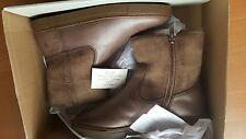 FRYE NIB $248 gemma fur-lined short boots shoes cognac US 8