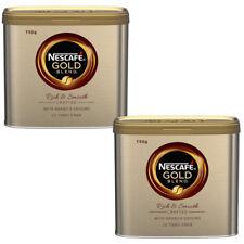 2 x ORIGINAL NESCAFE GOLD BLEND 750G TIN COFFEE GOLDEN ROAST £23.49 EACH !!!
